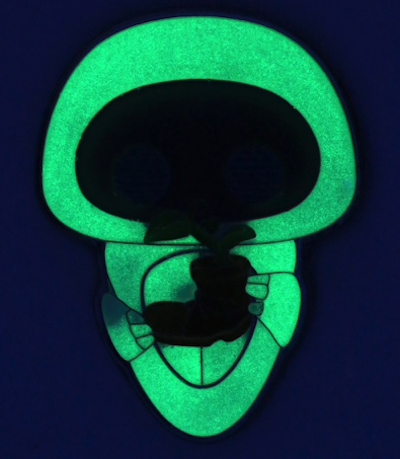 Eve Plant Funko Pop Disney Pin - Glow in the Dark
