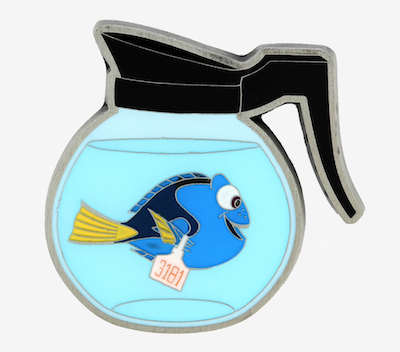 Finding Dory Coffee Pot Hot Topic Pin