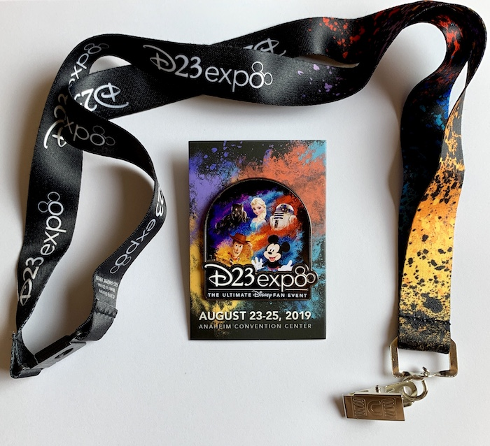 First D23 Expo 2019 Disney Pin & Lanyard