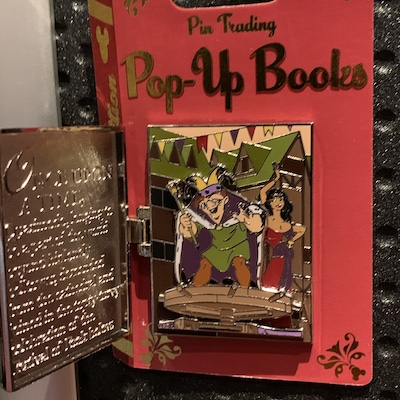 Hunchback of Notre Dame Pin Trading Pop Up Book Pin Inside