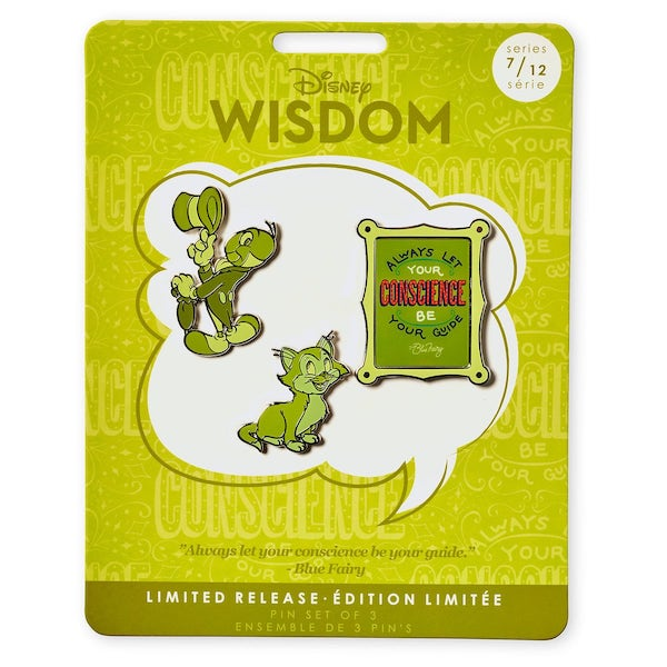 Jiminy Cricket Disney Wisdom Pin Set