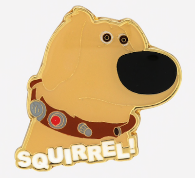 Loungefly Disney Pixar Up Dug Squirrel Enamel Pin