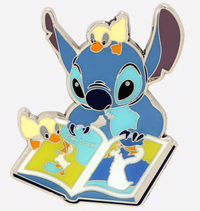 Loungefly Disney Stitch Book Ducklings Pin