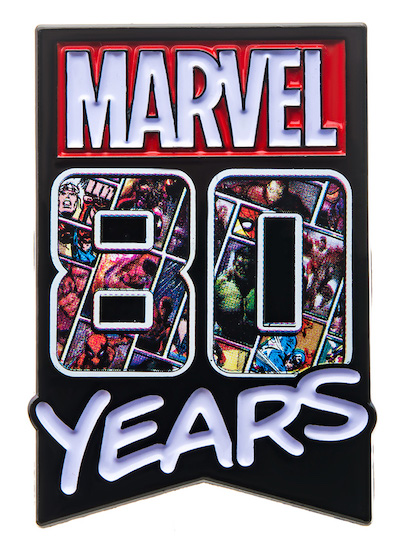 Marvel 80 Years Pin
