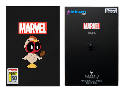 Marvel Deadpool Chibi In Chicken Suit SDCC 2019 Pin