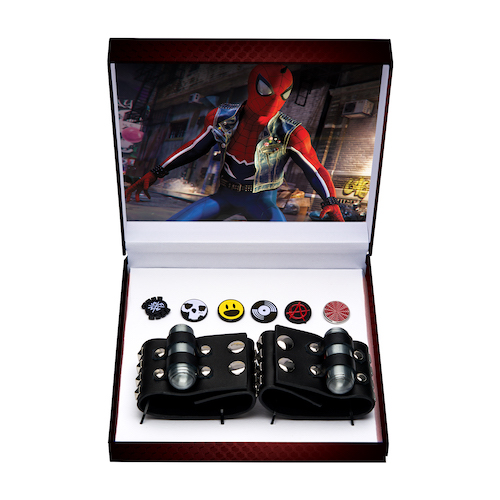 Marvel Spiderman Spider Verse Spider-Punk Bracelet and Pin Replica Boxed Set