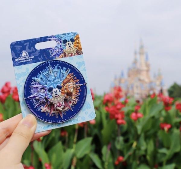 Mickey Compass Shanghai Disney Resort Pin