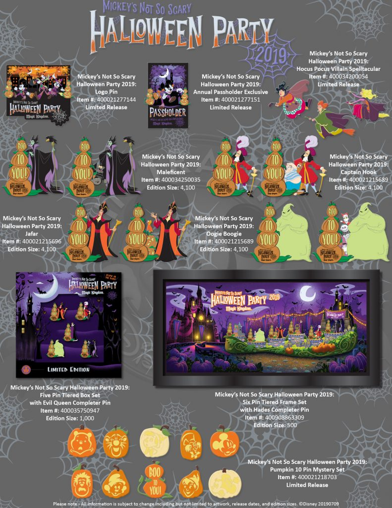 Mickey's Not So Scary Halloween Party 2019 Pins