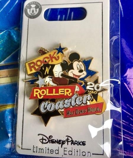 Rock 'n' Roller Coaster 20 Years Cast Member Pin