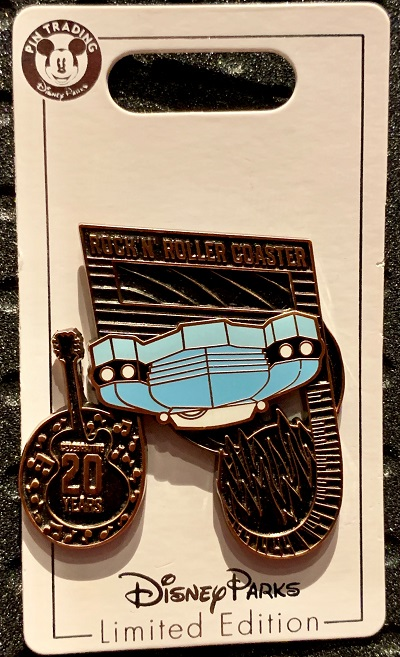 Rock 'n' Roller Coaster 20th Anniversary Disney Pin