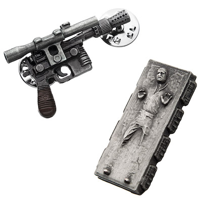 Star Wars Han Solo in Carbonite and Blaster SDCC 2019 Pin Set