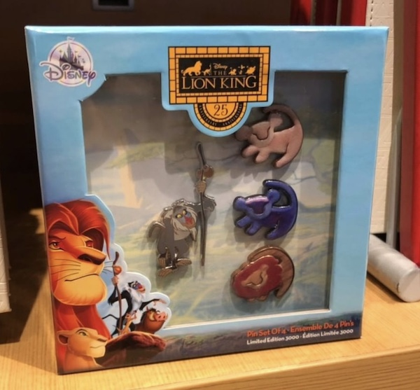The Lion King 25th Anniversary Disney Store Pin Set