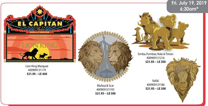 The Lion King DSSH Pins