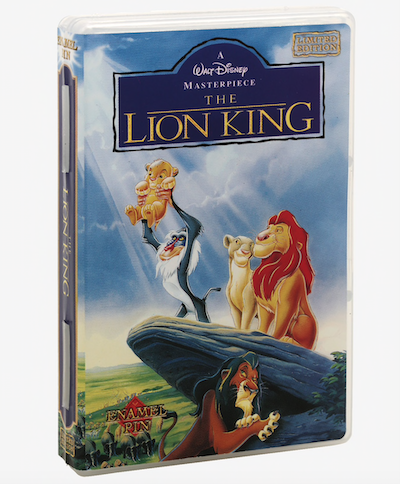 The Lion King VHS Pin Case