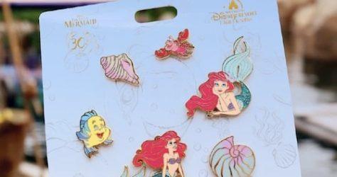 The Little Mermaid 30th Anniversary Shanghai Disneyland Pin Set