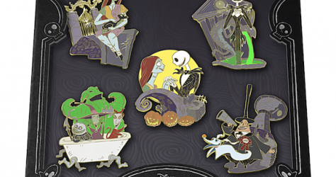 The Nightmare Before Christmas Bradford Exchange Pin Set