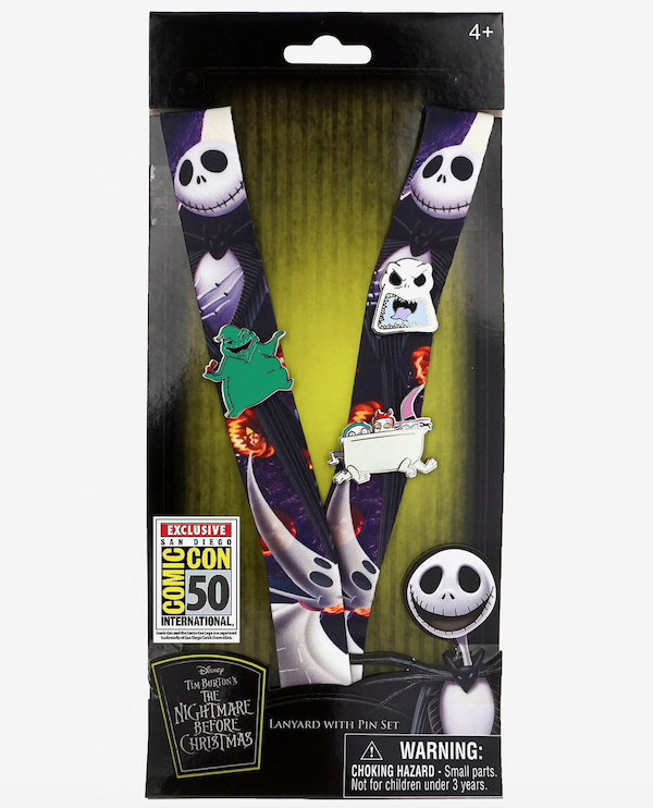 The Nightmare Before Christmas Lanyard & Pin Set - Summer 2019