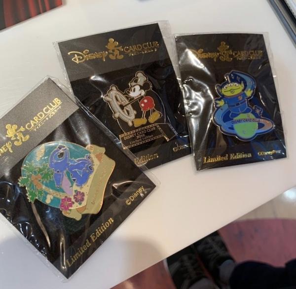 Tokyo Disney Card Club Limited Edition Pins