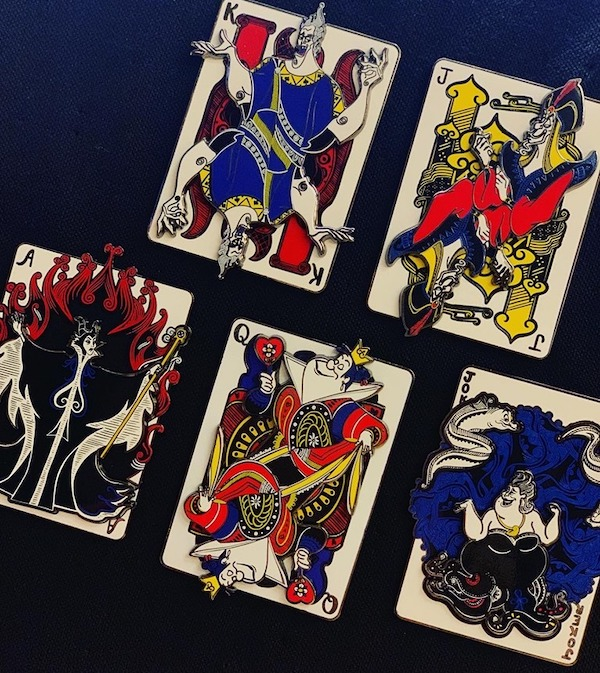 Villains Cards DSSH Pins