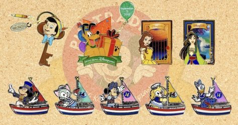 August 2019 HKDL Limited Edition Pin Releases