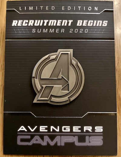 Avengers Campus Disney Pin