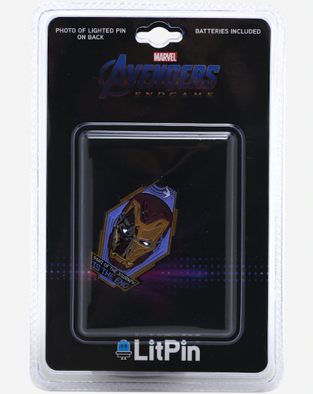 Avengers Endgame Iron Man Light-Up BoxLunch Pin