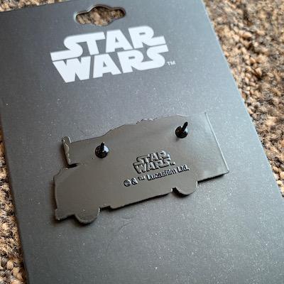 Back of Amazon Treasure Truck Star Wars Pin