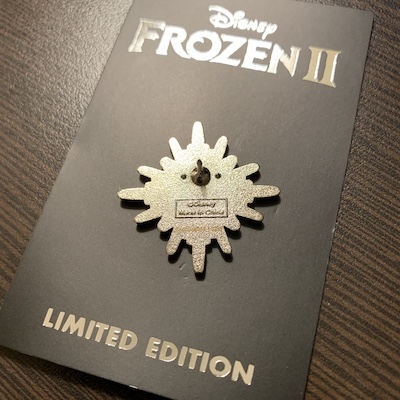 Back of Frozen 2 Pin - D23 Expo 2019
