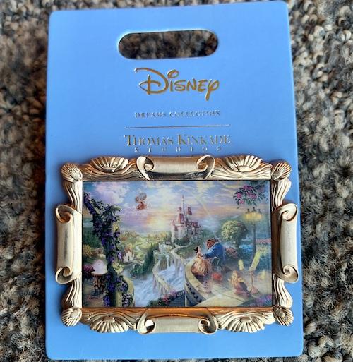 Beauty and the Beast Thomas Kinkade Disney Pin