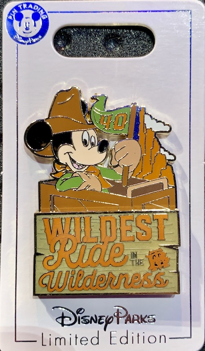 Big Thunder Mountain Railroad 40th Anniversary Disney Pin