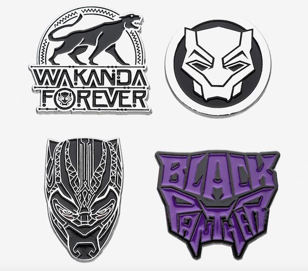 Black Panther Wakanda Forever Marvel Pin Set