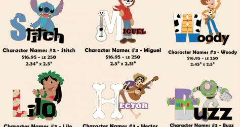 Character Names Series #3 Disney Employee Center Pins