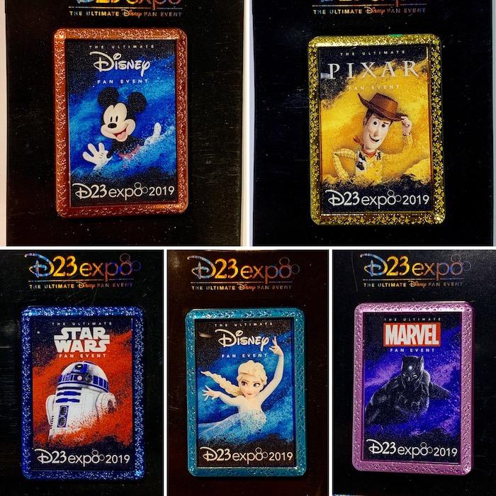 D23 Expo 2019 Character Logo Pins