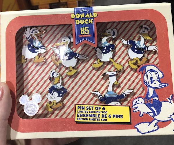 Donald Duck 85th Anniversary Disney Store Pin Set