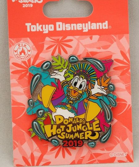 Donald's Hot Jungle Summer 2019 Tokyo Disneyland Pin