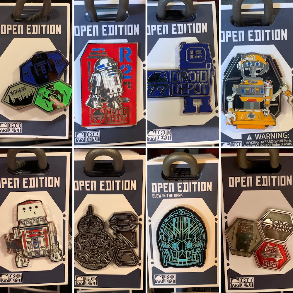Droid Depot Open Edition Disney Pins