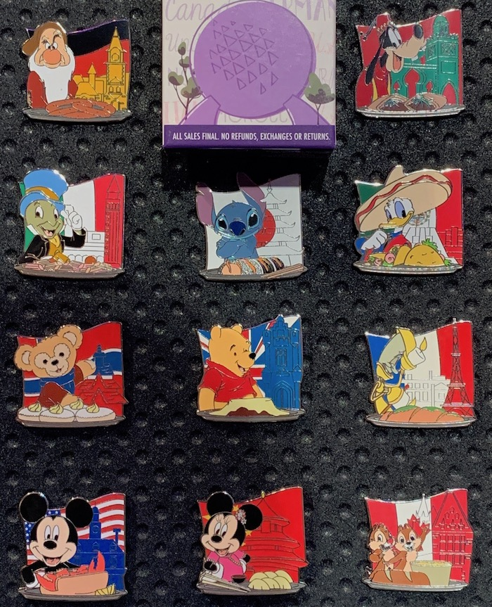 Epcot Food & Wine Festival 2019 Mystery Disney Pins