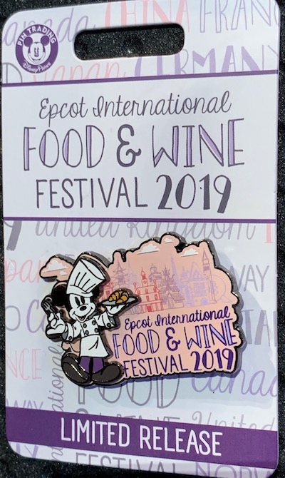 Epcot Food and Wine Festival 2019 Logo Pin
