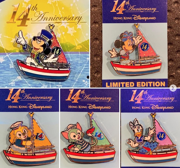 HKDL 14th Anniversary Pins