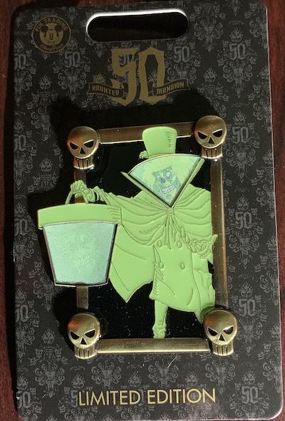 Hatbox Ghost Lenticular Haunted Mansion Pin