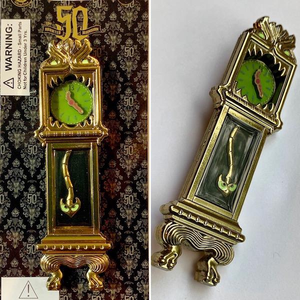 Haunted Mansion 50th Clock Pin