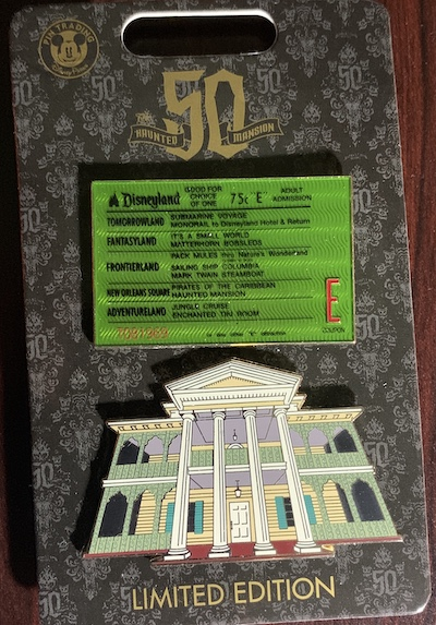Haunted Mansion E Ticket and Attraction Facade Pin Set