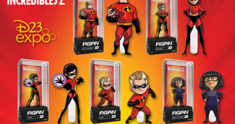 Incredibles 2 FiGPiN D23 Expo 2019 Pin Set