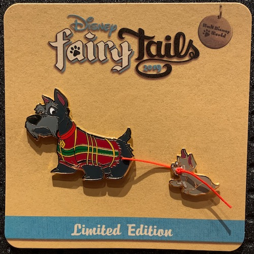 Jock & Scamp's Tug-O-War Disney FairyTails Pin Set
