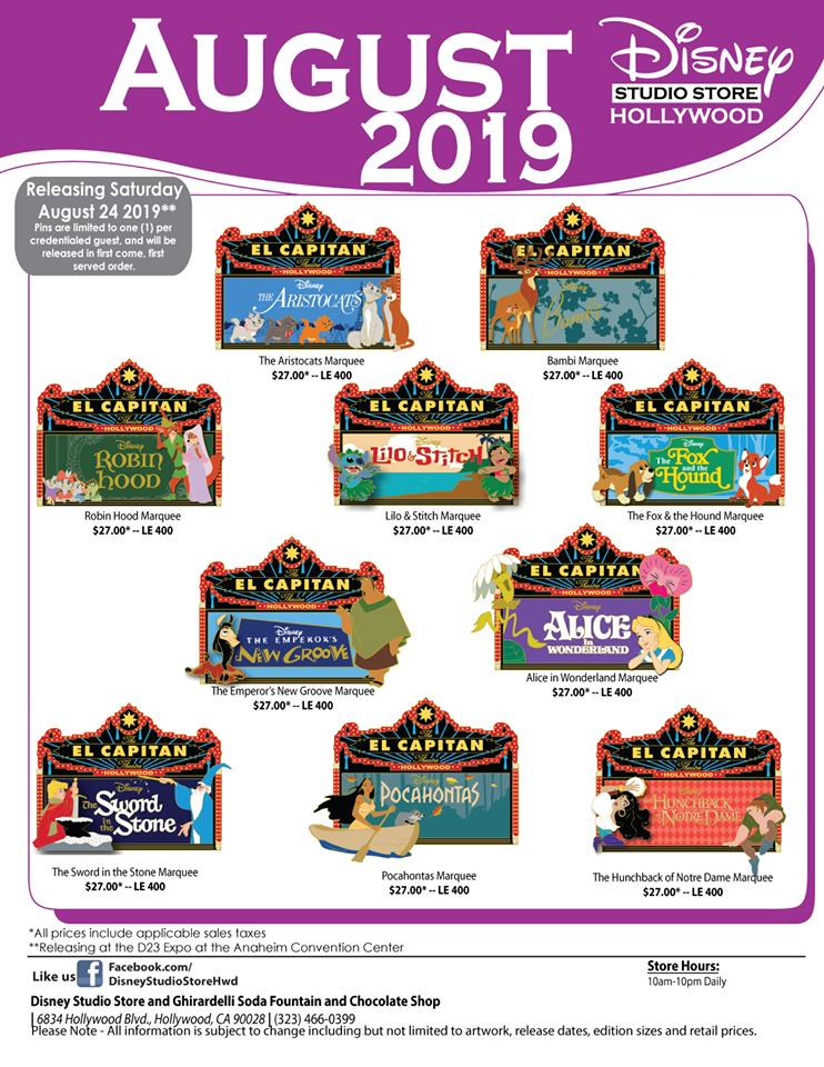Marquee DSSH D23 Expo 2019 Pins