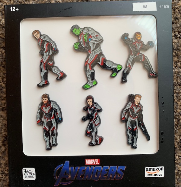 Marvel Avengers Amazon Exclusive Pin Set - D23 Expo 2019