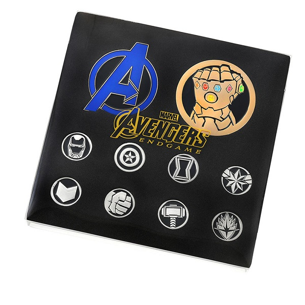 Marvel Avengers Endgame Disney Store Japan Pin Set