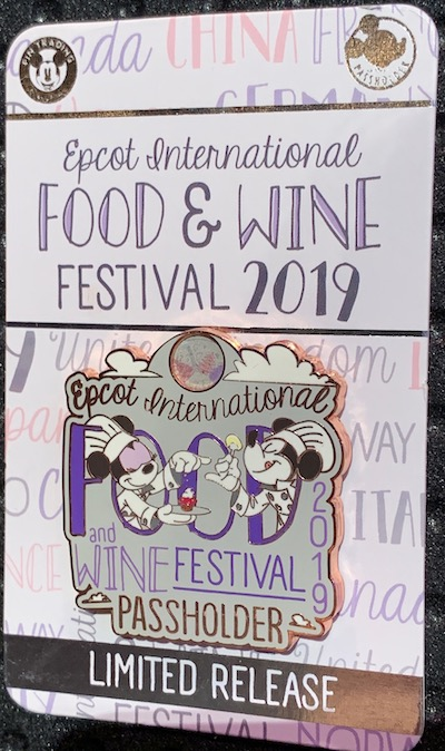 Mickey & Minnie Passholder Epcot Food & Wine 2019 Pin
