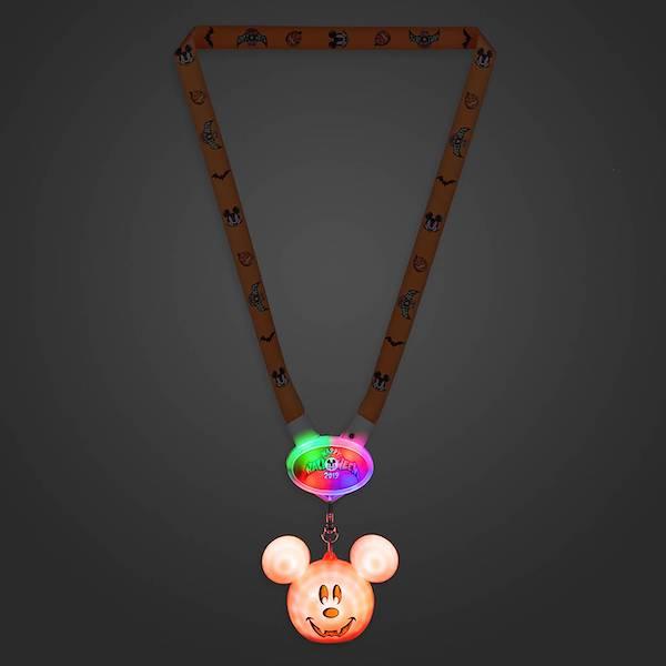 Mickey Mouse Halloween 2019 Light-Up Lanyard Dark