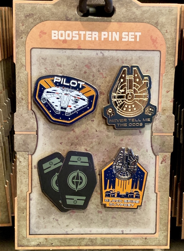 Millennium Falcon Star Wars Galaxy's Edge Booster Pin Set